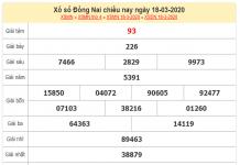 Dự đoán xổ số đồng nai ngày 25/03 xác suất trúng cao