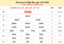 Dự đoán KQXSMB- xổ số miền bắc thứ 5 ngày 16/07/2020