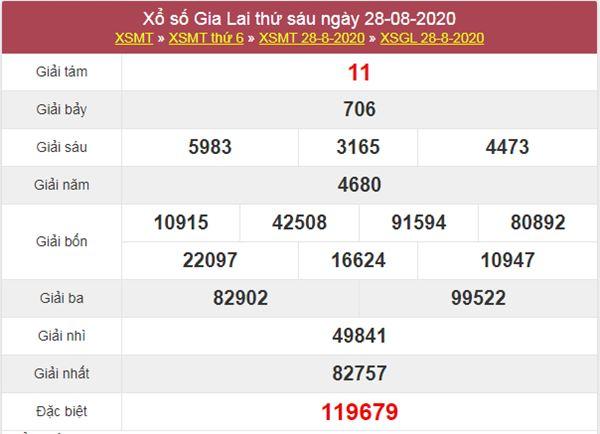 Dự đoán XSGL 4/9/2020 chốt KQXS Gia Lai thứ 6