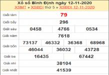 Dự đoán XSBD ngày 19/11/2020- xổ số bình định thứ 5
