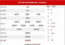 Dự đoán XSKH ngày 11/4/2021 - Dự đoán KQ xổ số Khánh Hòa chủ nhật
