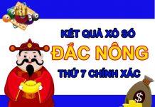 Dự đoán XSDNO 19/6/2021 chốt KQXS Đắc Nông thứ 7